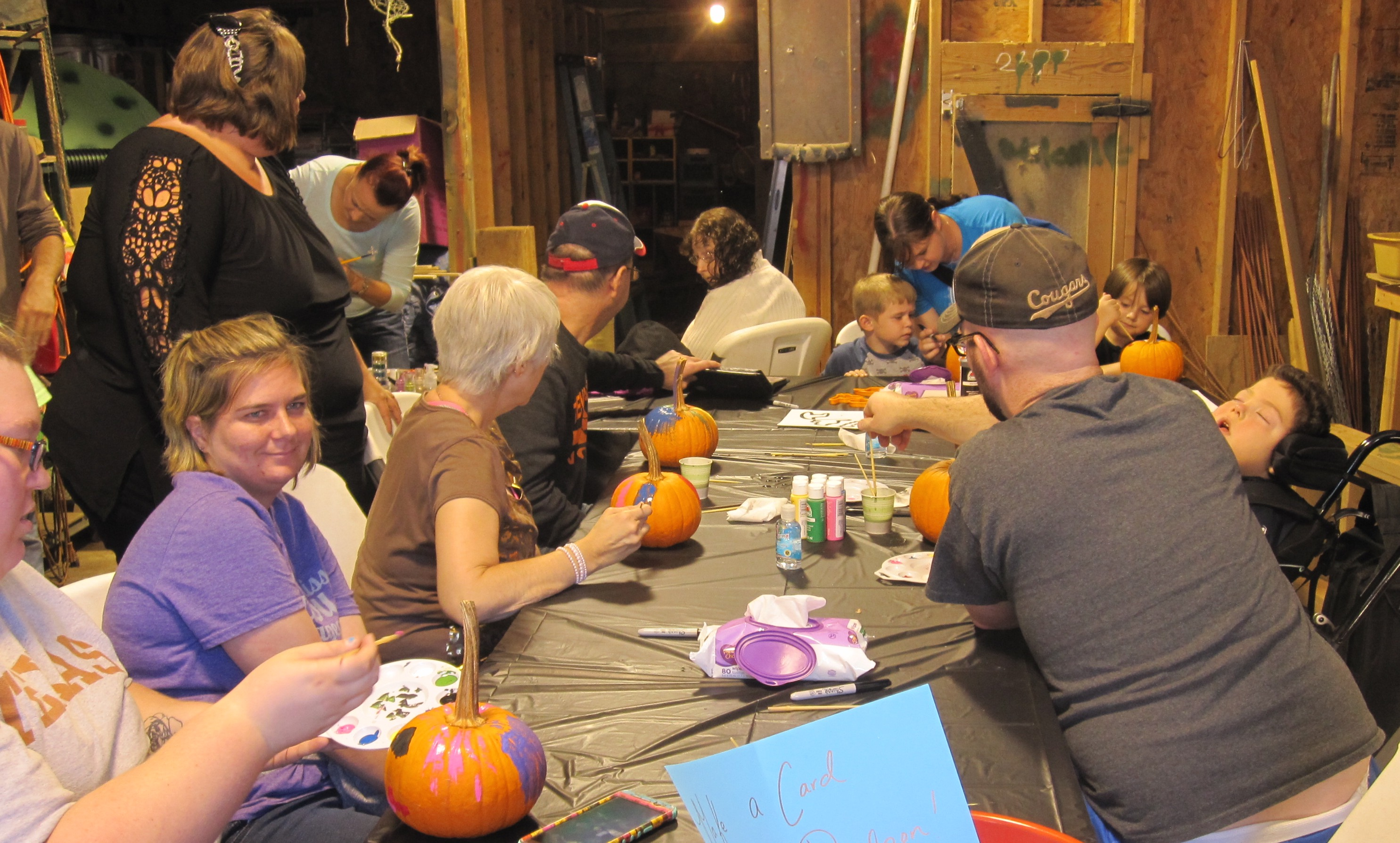 Painting Pumpkins at 2016 Rising Above Day at the Farm