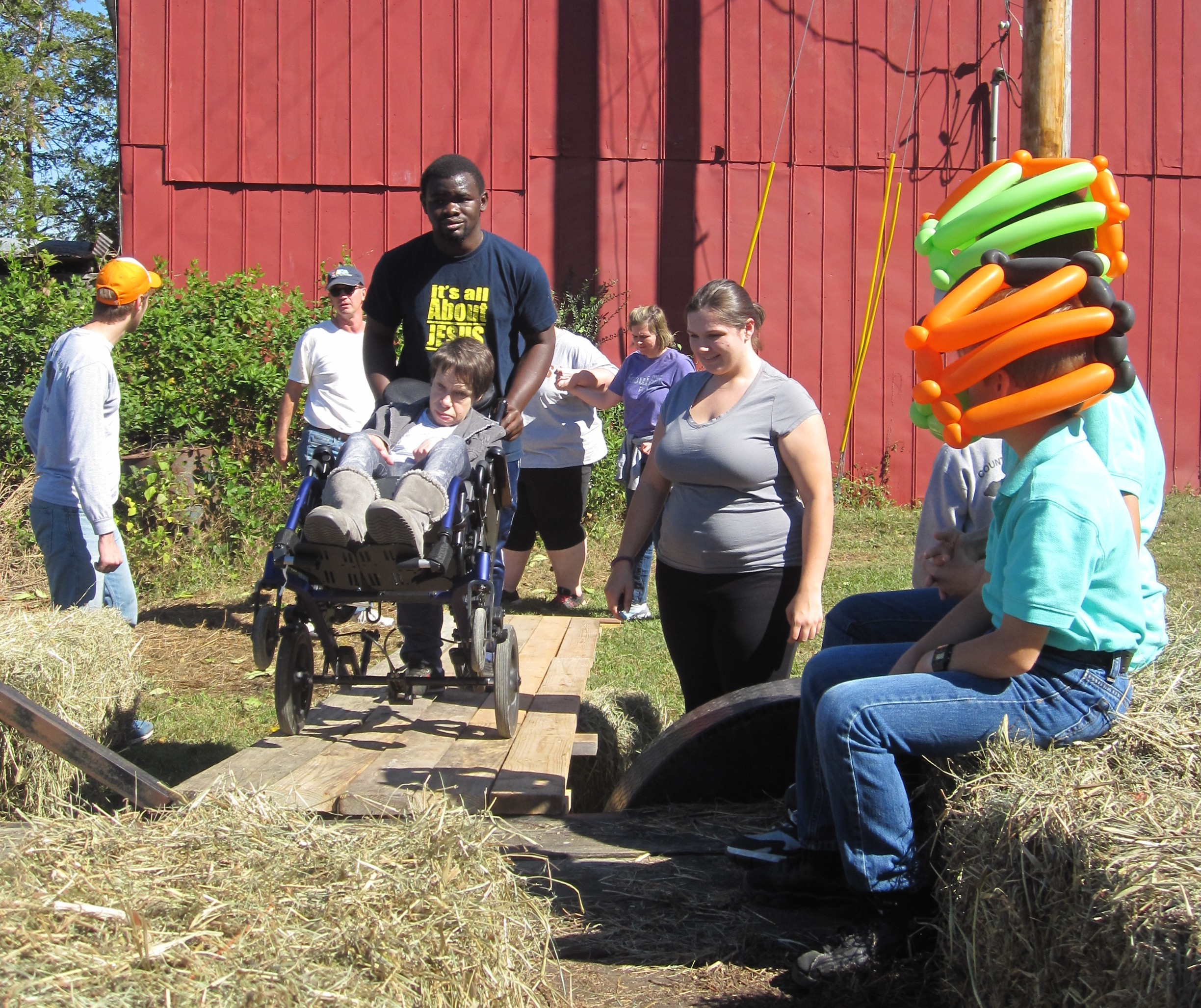 Hayride at 2016 Rising Above Day at the Farm